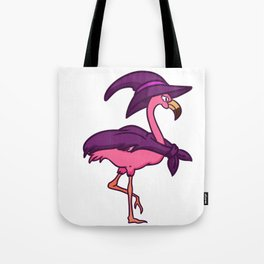 witch flamingo Tote Bag