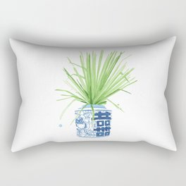 Ginger Jar + Fan Palm Rectangular Pillow