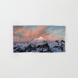Mount Baker Mountain Adventure Sunset - Nature Photography Hand & Bath Towel