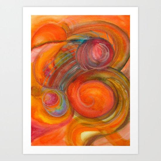 Sounds of Watercolors I Art Print