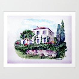 Saint Porchaire Country Home Art Print