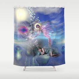 A novel can be a portal into parallel realities Shower Curtain