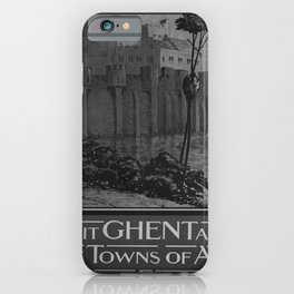 retro classic Visit Ghent poster iPhone Case