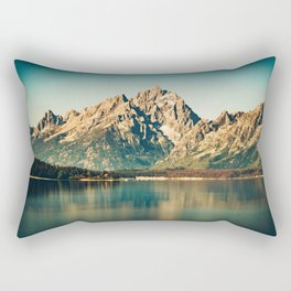 Mountain Lake Escape Rectangular Pillow