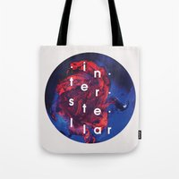 interstellar Tote Bags featuring Interstellar by Sophie Cseve