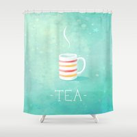 tea Shower Curtains featuring Tea by Freeminds