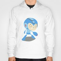 mega man Hoodies featuring Mega Man by Rod Perich