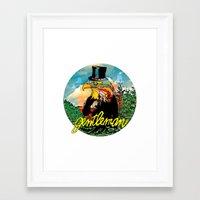 gentleman Framed Art Prints featuring Gentleman by dogooder