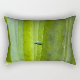 Peekaboo! A gecko in the agave Rectangular Pillow