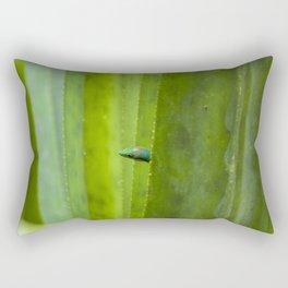 Peekaboo! A gecko in the agave Rectangular Pillow