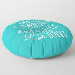 Thank God, inspirational quote for motivation, happy life, love, friends, family, dreams, home decor Floor Pillow