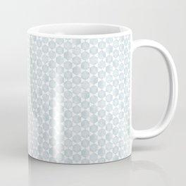 Modern Hexagon Pattern in Silvery Blue and White Coffee Mug