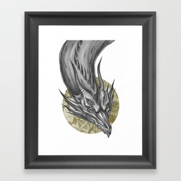 Silver Dragon Framed Art Print