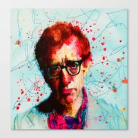 woody Canvas Prints featuring Woody by benjamin james