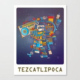 Tezcatlipoca Lord of the Night v2 Canvas Print