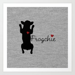 Frogchie French Bulldog Art Print