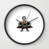 tokyo ghoul Wall Clocks featuring Ghoul by Rudi de Wet Studio