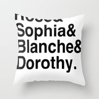golden girls Throw Pillows featuring Golden Girls by pruine