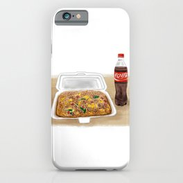 Watercolor Illustration of Chinese Street Food - Fried rice iPhone Case