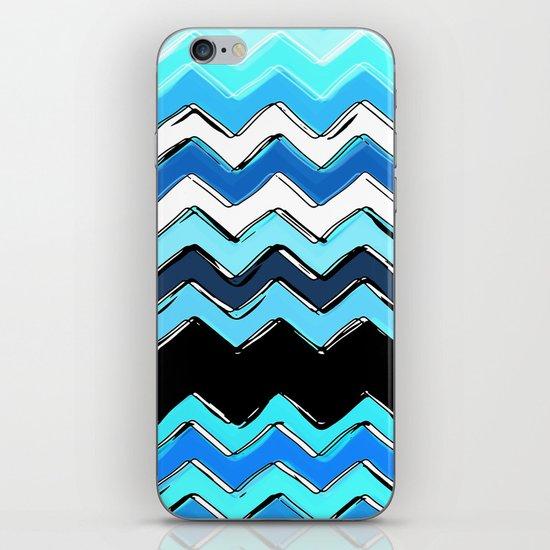 ocean chevron iPhone & iPod Skin