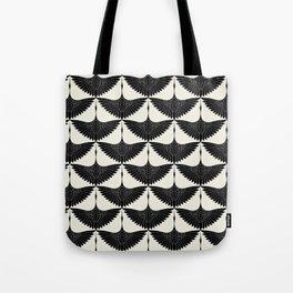 CRANE DESIGN - pattern - Black and White Tote Bag