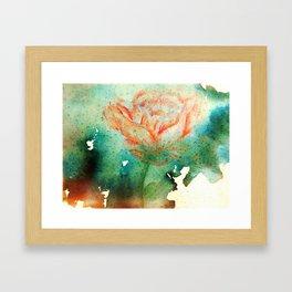 Underwater Flower Framed Art Print