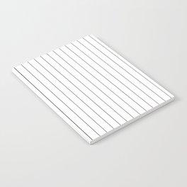 White Black Pinstripes Minimalist Notebook