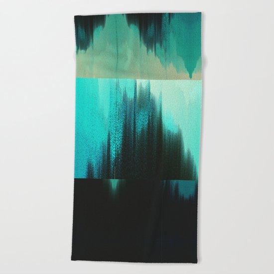 Aqua Block Beach Towel