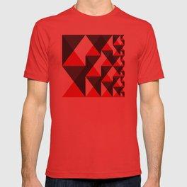 Geometric Pattern #20 (red triangles) T-shirt