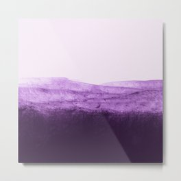 Amethyst Watercolor Crush Metal Print