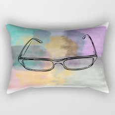 Painted glasses Rectangular Pillow