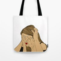 introvert Tote Bags featuring Introvert 6 by Heidi Banford