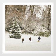 Christmas happiness Art Print