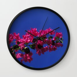 blossoms in the sky 1 Wall Clock