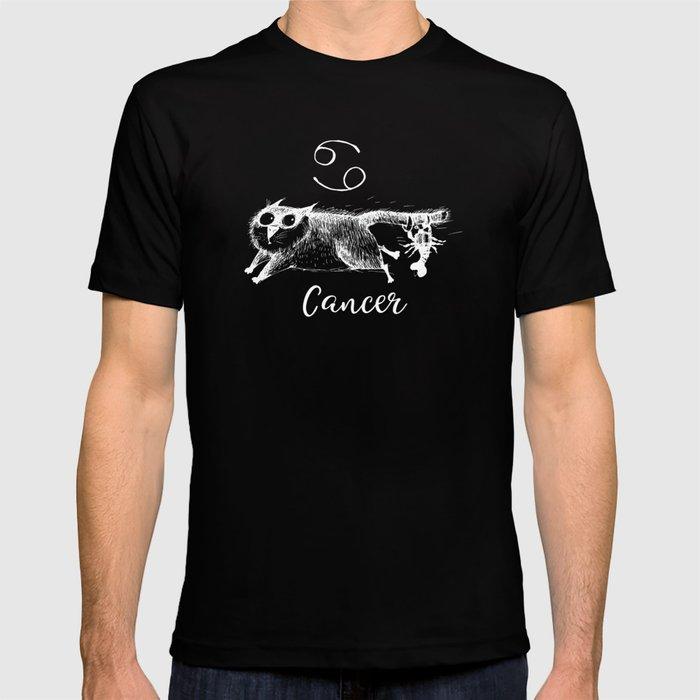 0767c0da Funny Cancer Cat Zodiac July Shirt Birthday Gift T-shirt by top10merch |  Society6