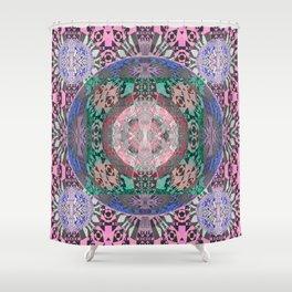 Bliss and Mystery Meditation Mandala Shower Curtain
