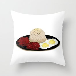 Tocilog (tocino, egg, fried rice) -filipino food Throw Pillow