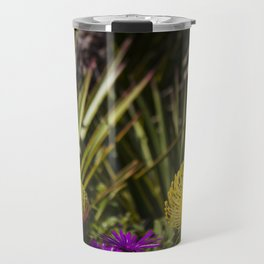 Protea pincushion flowers with vignette Travel Mug
