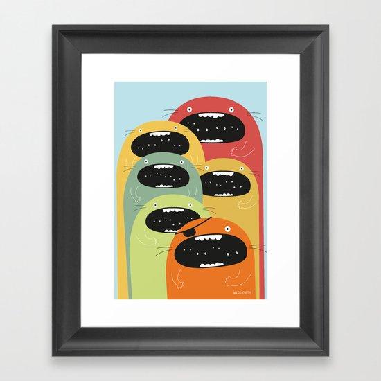Monster gang. Framed Art Print