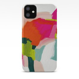 abstract pink art iPhone Case