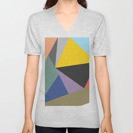 Vibrant Bohemian Geometric Shapes Unisex V-Neck