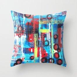 Evolve Abstract Throw Pillow