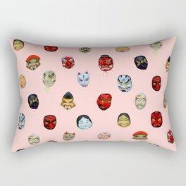 Masks in Asakusa Rectangular Pillow