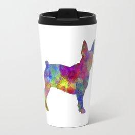 Boston Terrier 01 in watercolor Travel Mug