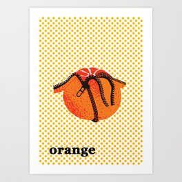 Pop Art Orange Illustration Art Print