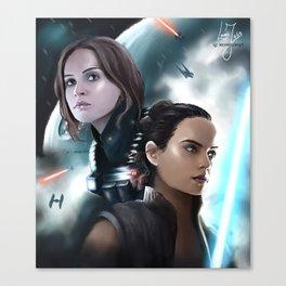 Jyn & Rey Canvas Print