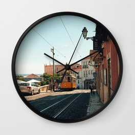 Lisbon yellow tram, Portugal Analog 6x6 Kodal Ektar 100 (RR 167) Wall Clock