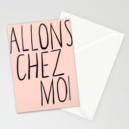 Let's Go Back To My Place Stationery Cards