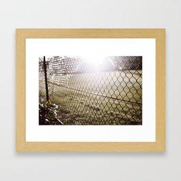 the evening sunrays  Framed Art Print