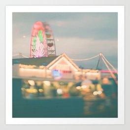 Ferris Wheel photo. Santa Monica.  Let's Be Kids Again Art Print